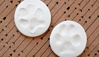 DIY air dry clay dog paw prints