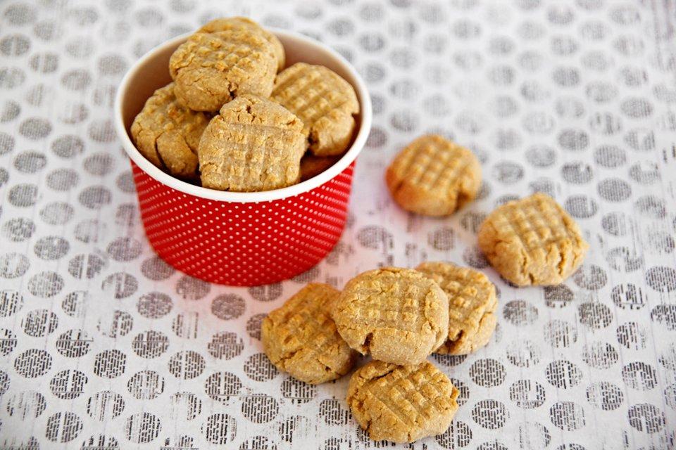 Easy three ingredient peanut butter dog treats