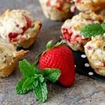 Strawberry banana mint mini muffin dog treat recipe