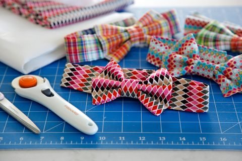Sewing DIY dog bow ties and fancy dress collars