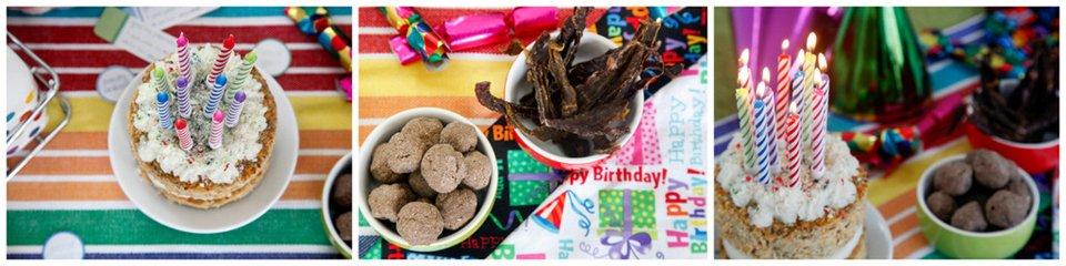 Oli's 10th DIY dog birthday party treats and cake