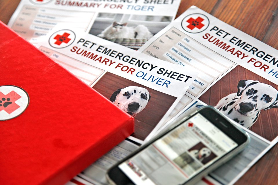 Free emergency information templates for pets