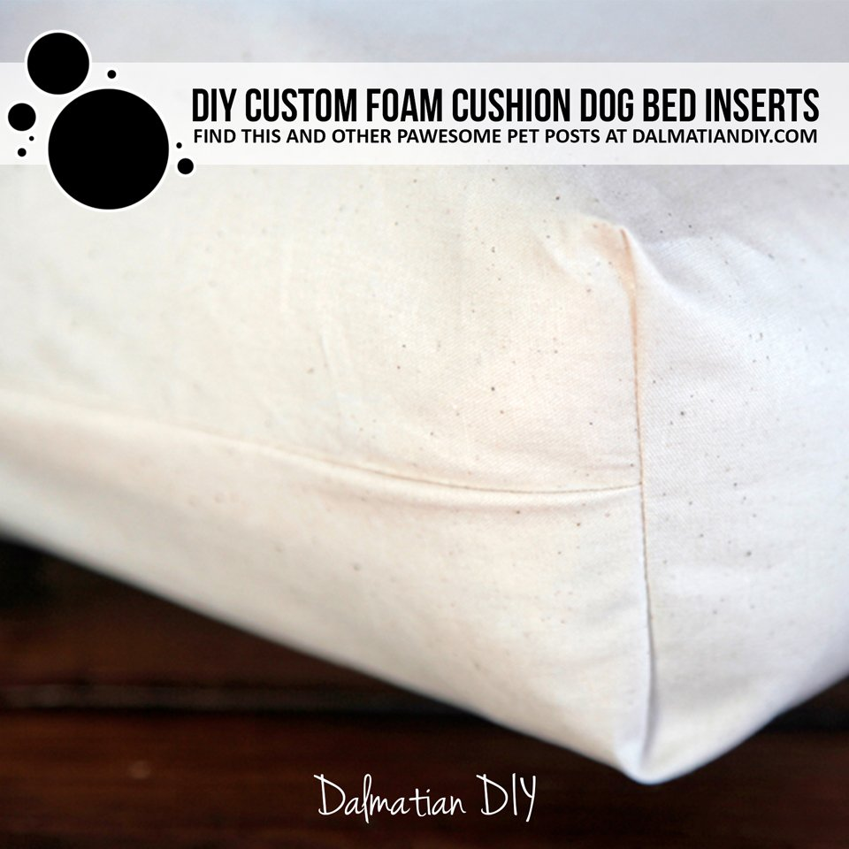DIY custom fitted foam pet bed inserts and covers