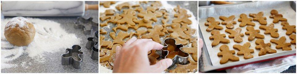 Making gingerbread dog treats