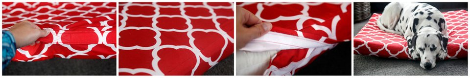 DIY box cushion water-resistant dog bed cushion cover