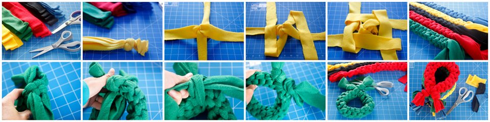How to make a simple loop dog tug toy