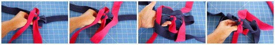 Weaving corner-to-corner circle twist spiral dog tug toy