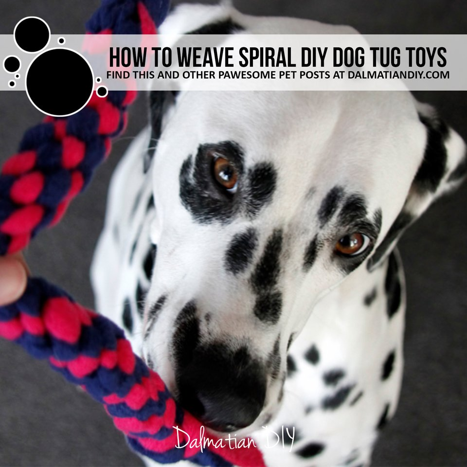 How to weave spiral fleece dog tug toys