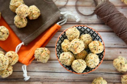 Harvest pumpkin and herb truffle dog treats