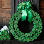 DIY dog poop bag Christmas wreath and miniature trees