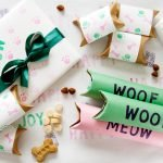 DIY recycled and recyclable gift wrapping for pets