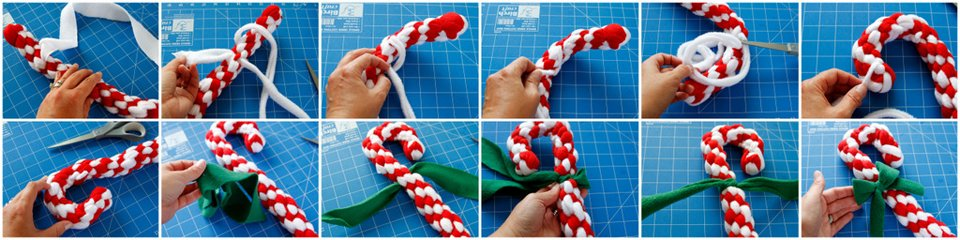 How to cinch a dog tug tow into a candy cane shaped curve
