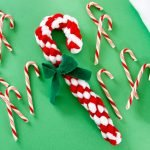 DIY Christmas candy cane dog tug toy