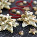 Homemade stacked star Christmas tree dog treats