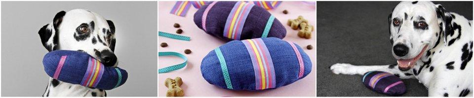 DIY Easter egg stuffed dog toys