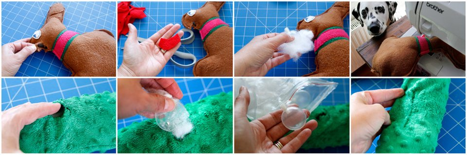Repairing damaged dog toys and replacing squeakers