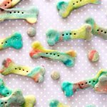 Unicorn bone homemade rainbow marbled dog treats
