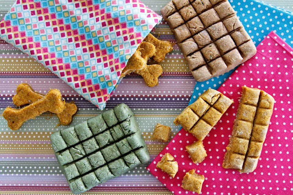 Homemade dog treat bars