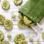 Homemade naturally green leaf dog treats