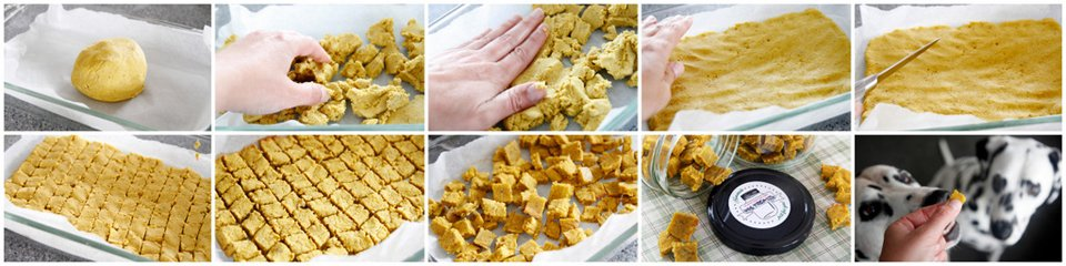 Shortcut for making small dog treats without rolling dough or cutting shapes
