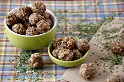 Lamb and herb meatball dog treat recipe