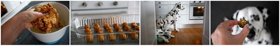 Making turkey and turmeric mini meatball dog treats