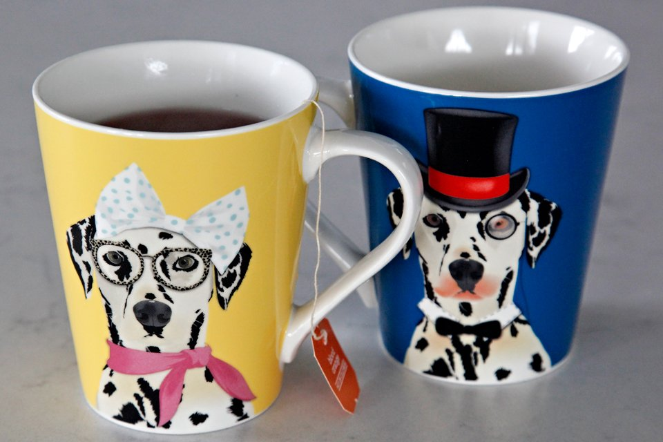 Dalmatian dog tea cups