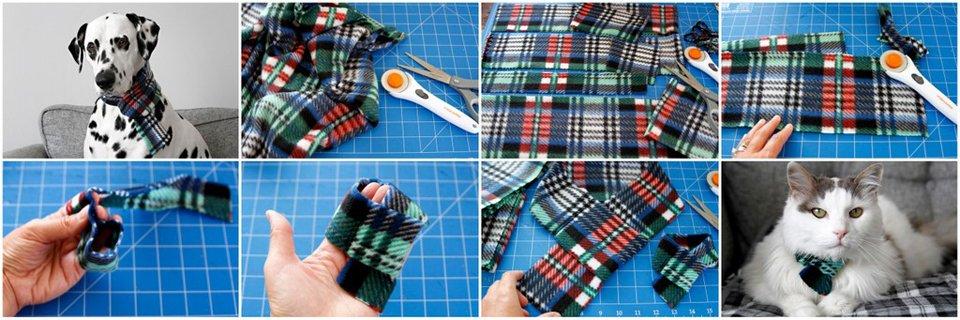 How to make a simple DIY fleece scarf