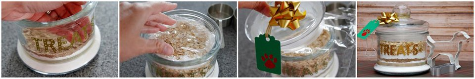 Making a dog treat mix jar for gifting