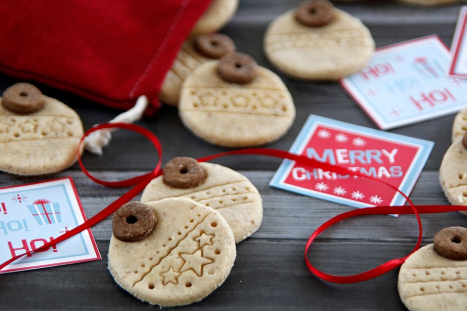 DIY Christmas Ornament Dog Treats without a Plunger Cutter