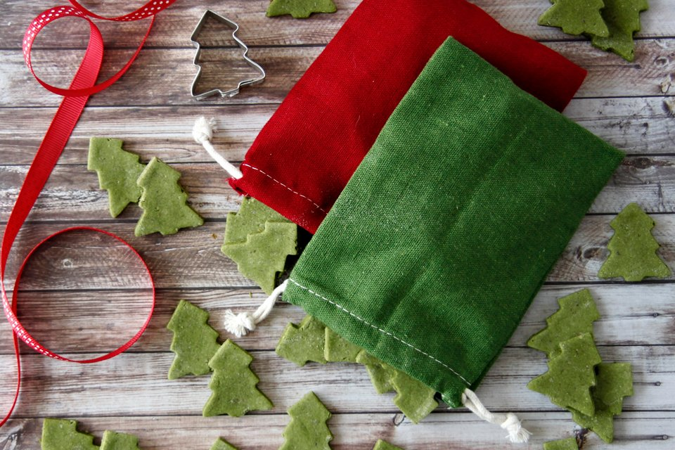 Homemade Christmas tree dog treats