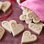 Apple cinnamon paw print heart Valentine's Day dog treats