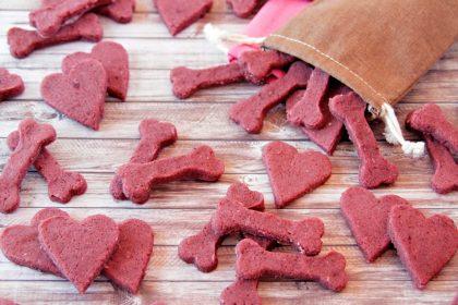 Blackberry cream cheese Valentine's Day dog treat recipe