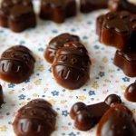 Healthy homemade carob Easter gummy dog treats