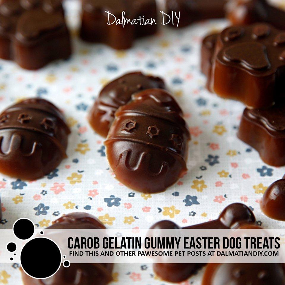 Healthy carob Easter gummy dog treat recipe