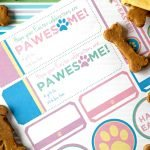 Free printable Easter dog treat tags and labels