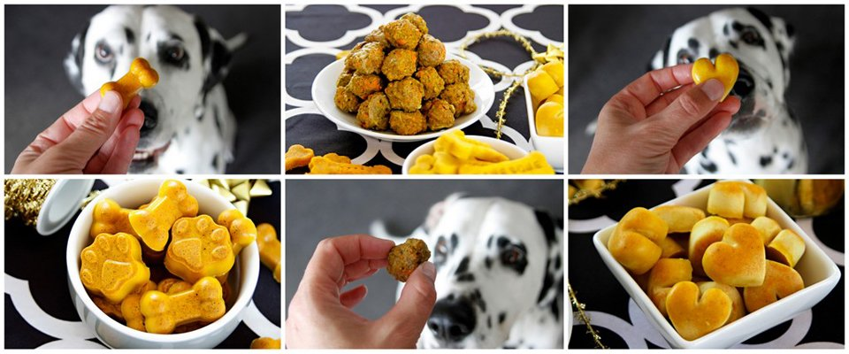 Golden adaptations of dog treat recipes for Oli's golden oldie birthday party