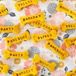 Homemade peanut butter turmeric stamped golden oldie dog birthday treat recipe