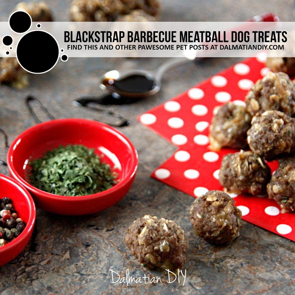 Blackstrap barbeque meatball dog treat recipe