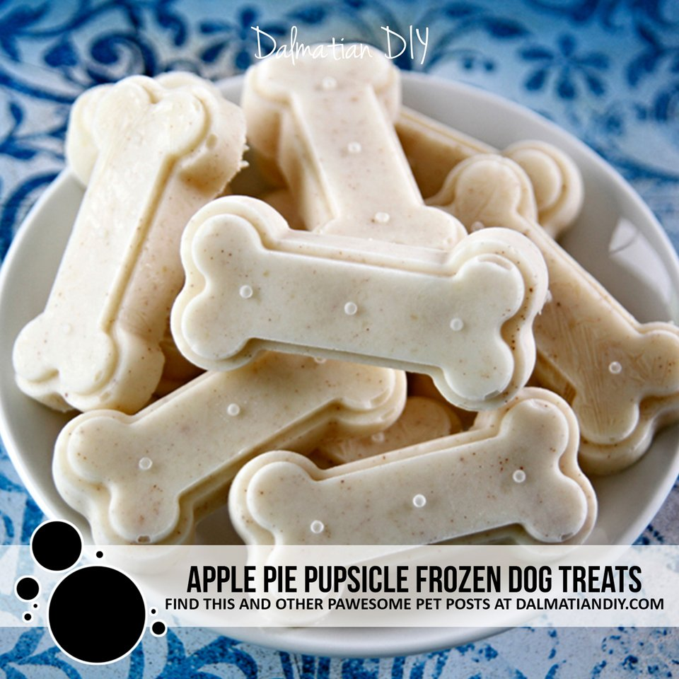 Apple pie pupsicle frozen yogurt dog treat recipe