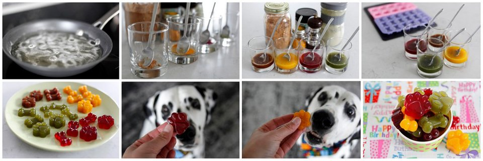Shortcut for making multiple small batches for gummies in different flavours and colours