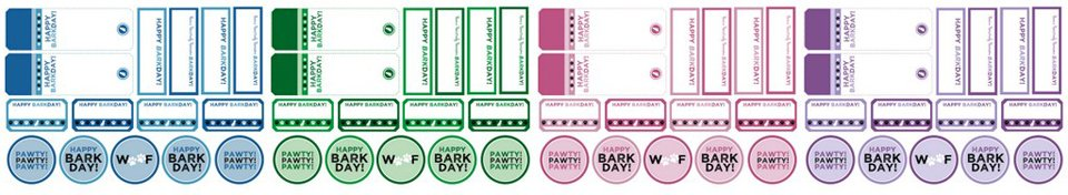 Free printable dog birthday gift or treat tags and labels