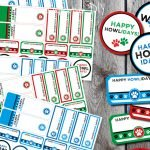 Free mix-and-match printable holiday (howliday) dog treat tags and labels