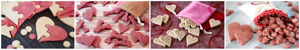 Making heart shaped biscuit treats for Valentine's Day