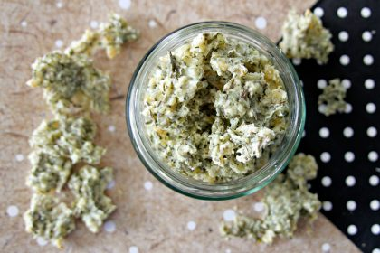 DIY dehydrated cottage cheese with herbs