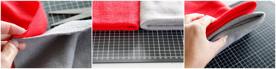 Comparing the weights (loft and thickness) of polar fleece fabrics