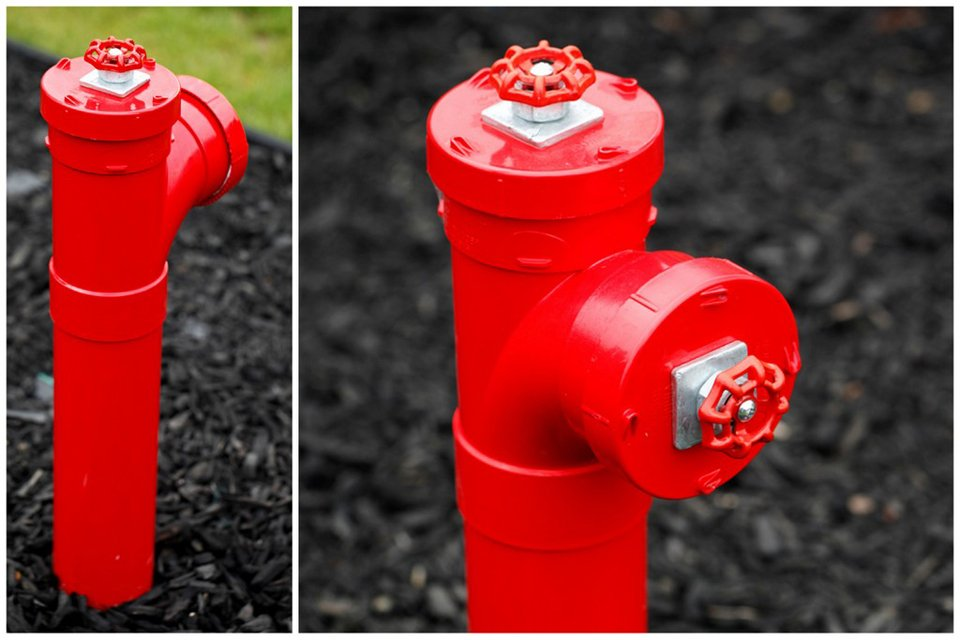 Fake fire hydrant dog pee post for the garden