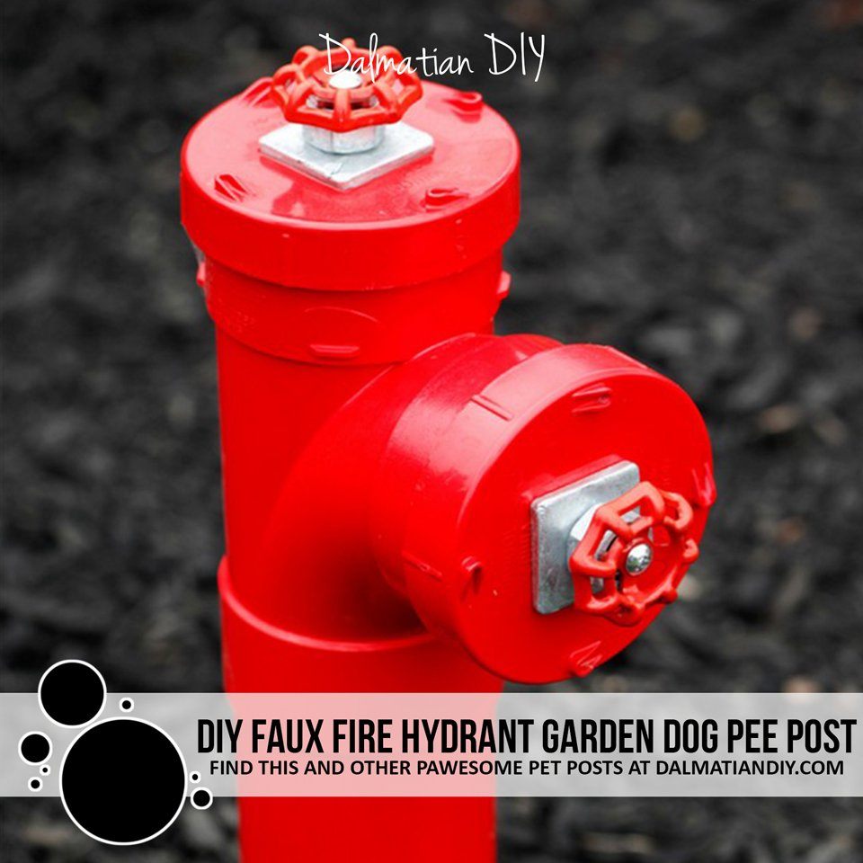 Homemade fire hydrant dog pee post for the garden
