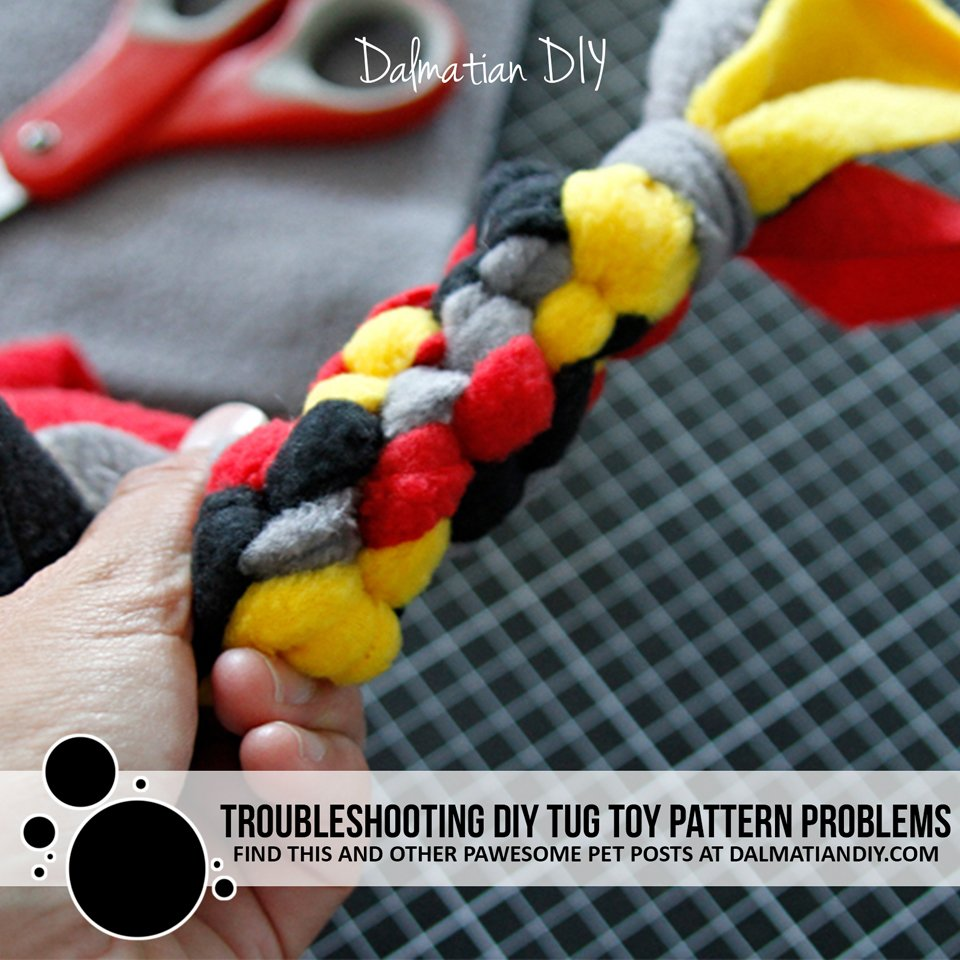 Troubleshooting common pattern problems in DIY fleece dog tug toys
