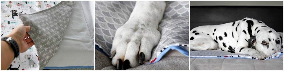 DIY flannelette dog blankets